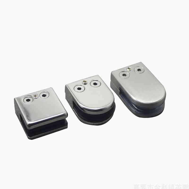 Stainless Steel Square Clamp Holder Bracket Clip For Glass Shelf