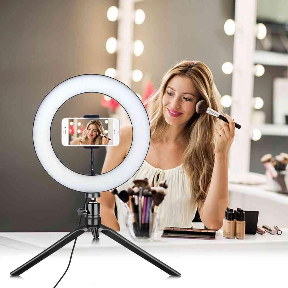 Led Light Selfie Ring Lamp, Novelty Photography Video Live Studio Light