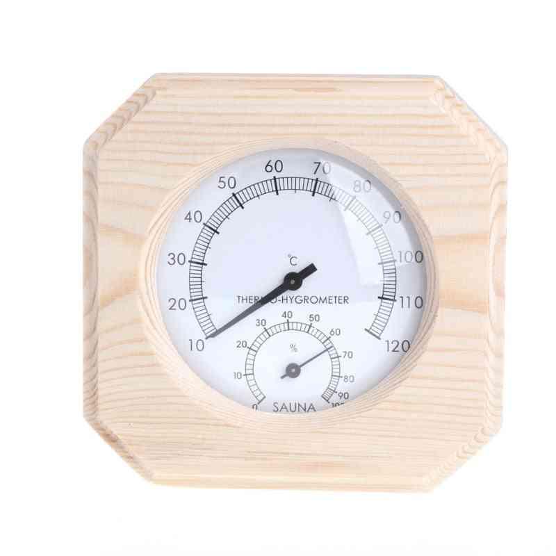 1pcs Sauna Room Wood Thermometer Hygrometer - Temperature Instrument