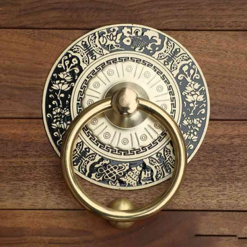 Antique Vintage Eengraving -decorative Wooden Door Handles, Knobs