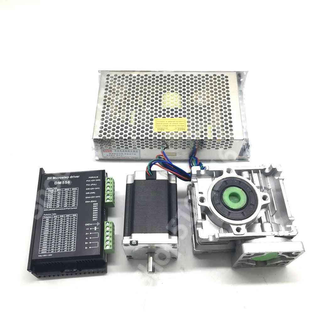 Ratio 30:1 Turbine Worm Gearbox Rv30 Reducer +nema23 1.2nm 56mm Stepper Motor