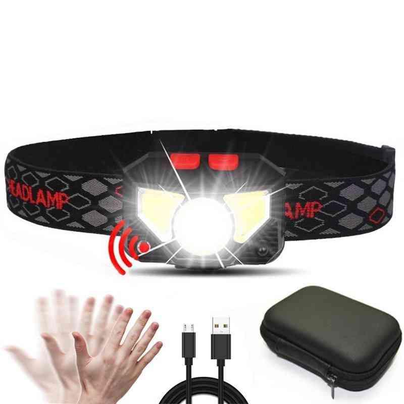 6000lums Hands Free Led Headlamp - Motion Sensor With Portable Box