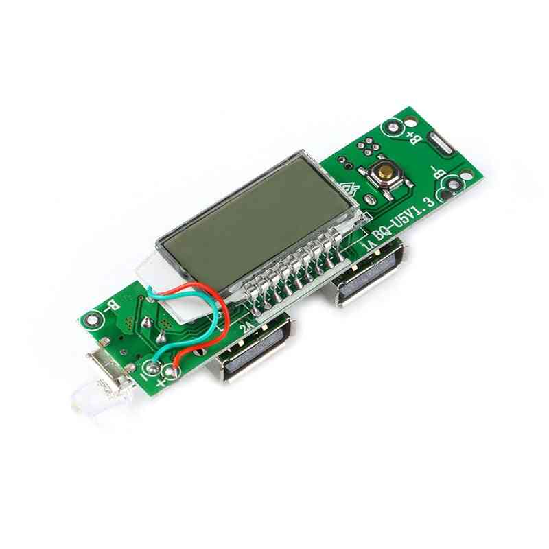 Dual Micro Usb Charger Module With Lcd Display For Iphone/android