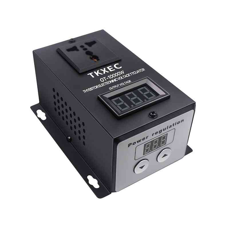Ac 220v 10000w Scr Electronic Voltage Regulator - Temperature Speed Adjust Controller Dimming Dimmer Thermostat