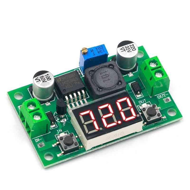 Lm2596 Dc/dc, Adjustable Led Voltmeter With Digital Display