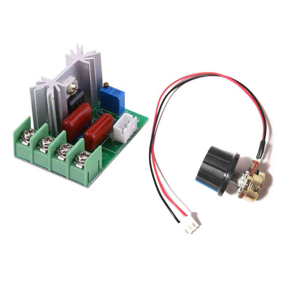 Ac 220v 2000w Scr Voltage Regulator- Dimmers Motor Speed Controller