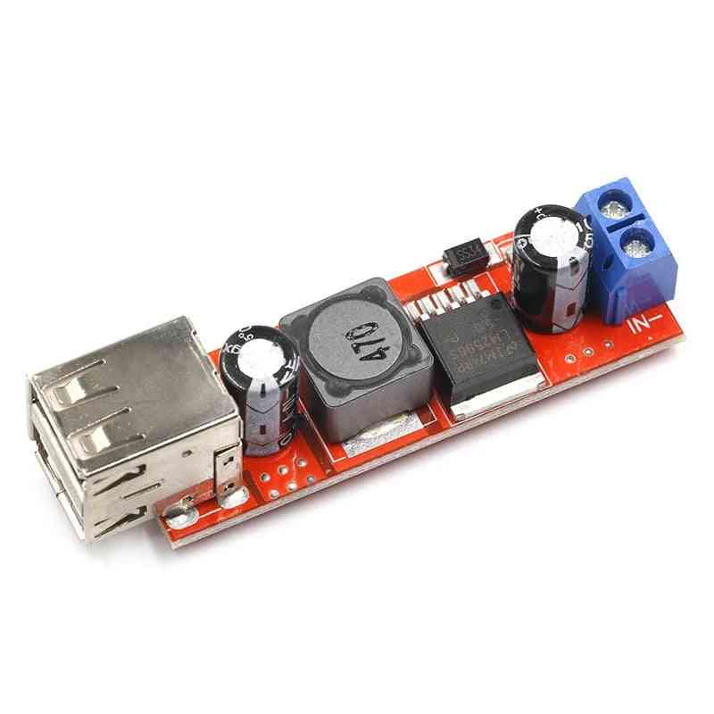 Dc 6v-40v To 5v 3a Double Usb Charge Step Down Converter Module For Vehicle Lm2596