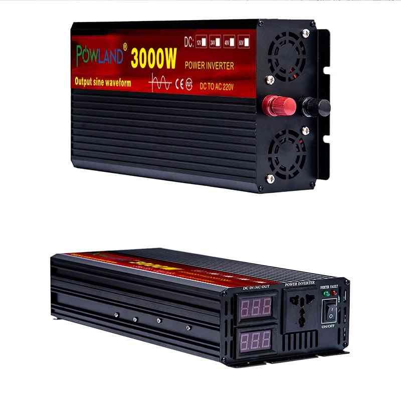 Dc To Ac, Pure Sine Wave Voltage Converter - Car Micro Inverter