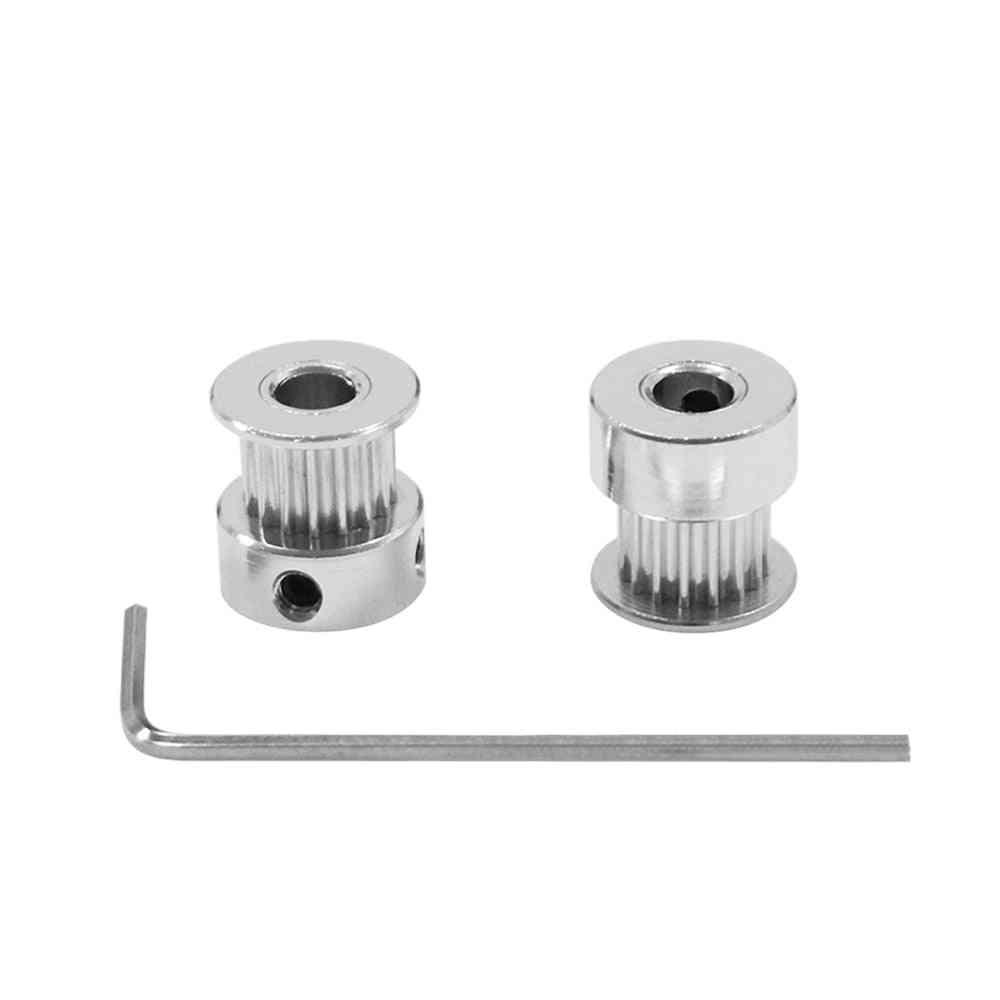 1pcs 20teeth Gt2 Timing Aluminum Pulley For 6mm Belt