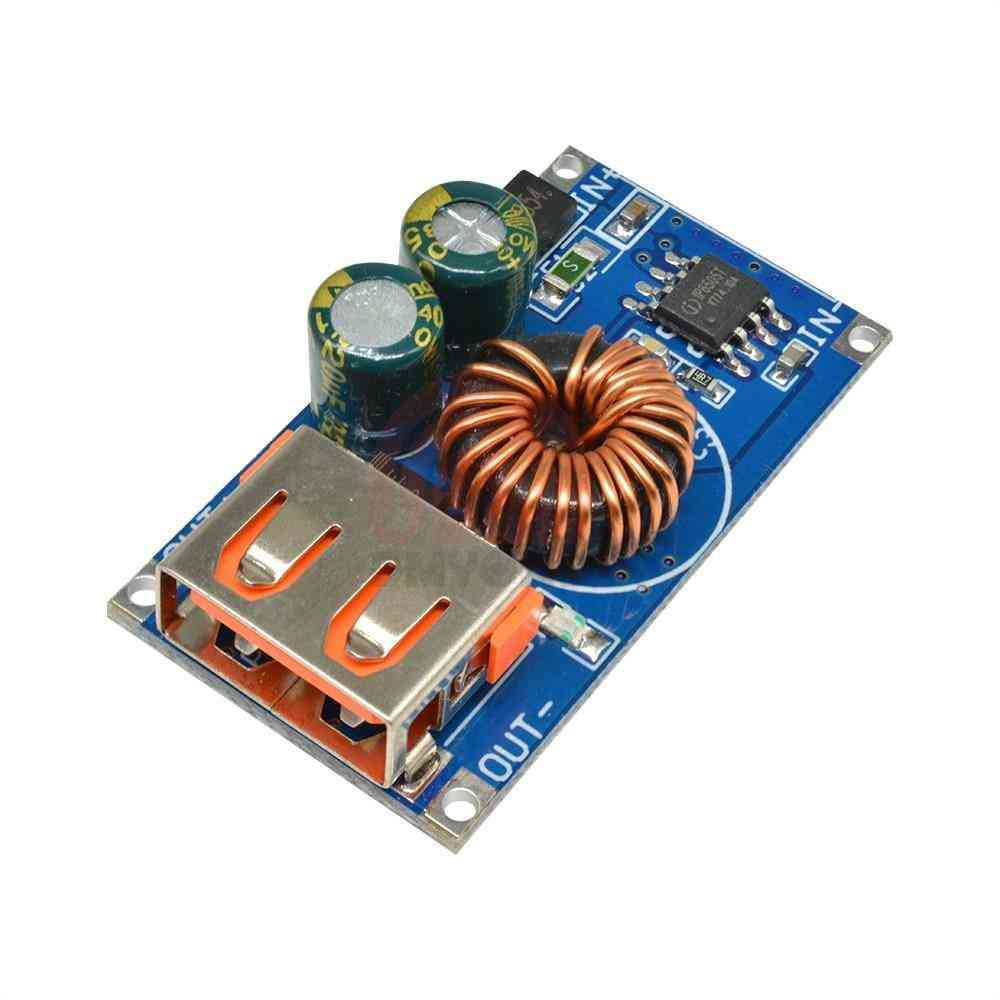 Usb Dc Step-down Module 12v/24v To Qc2.0/qc3.0 - Fast Charge Mobile Phone Charging Board