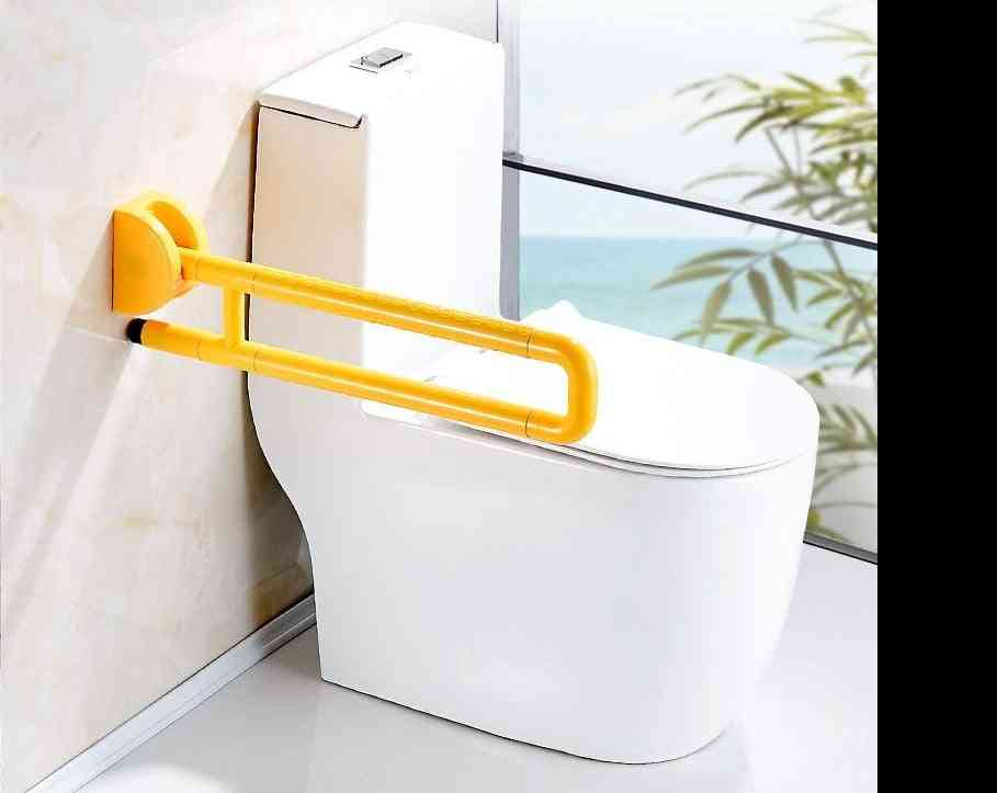 Folding Bathroom Support Safety Rail - Flip Up Grab Bar For Elderly, Disabled Person