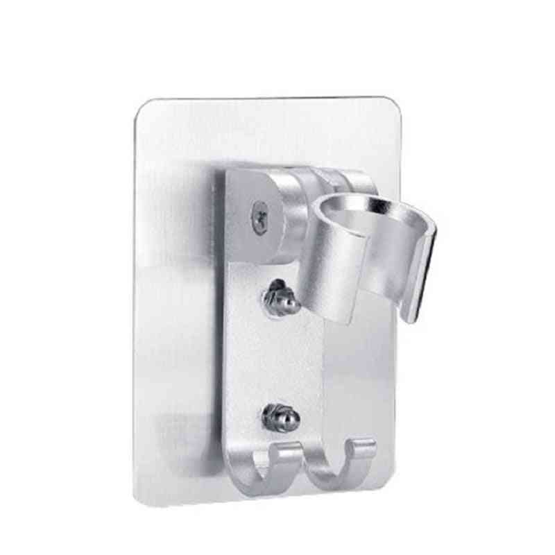 Wall-mount, Punch-free Shower Head Holder With Suction Bracket