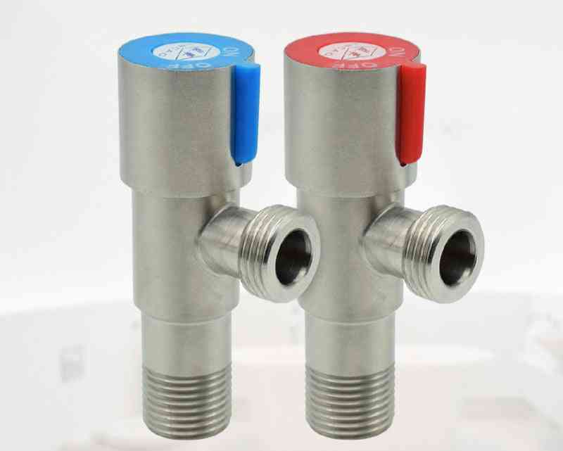 Hot & Cold Water Triangle Valve - Anti-explosion For Toilet