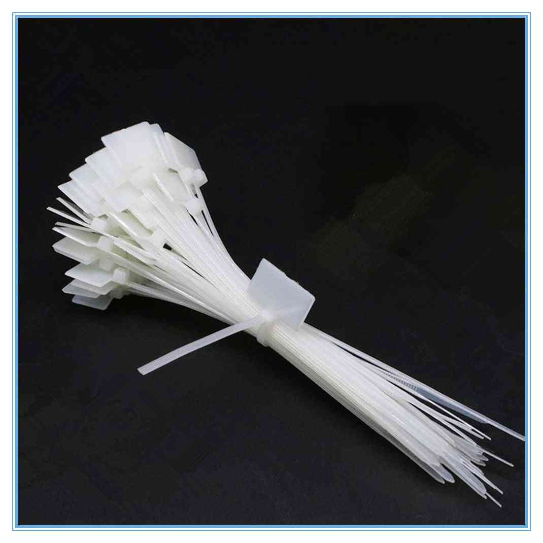Nylon Tie Tags Self-locking Network Cable Zip Trim Wrap Loop Wire Straps Label
