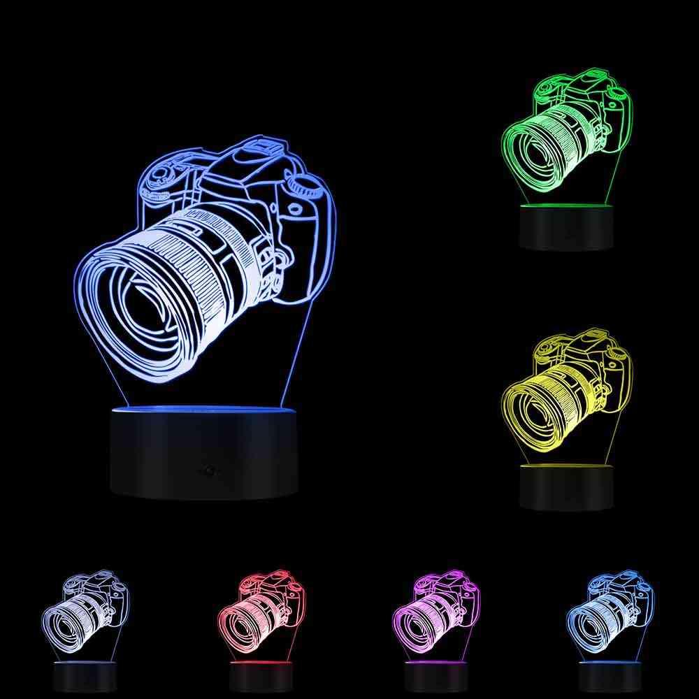 Camera Novelty Table Night Light - Digital Single Lens Reflex Shape Led Lamp