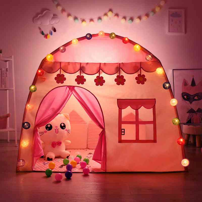 Play Kids Tent -princess Castle Folding Cubby