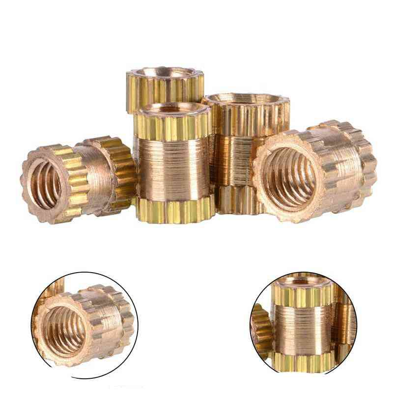 200/500pcs Mix Copper Insert, Knurled Nuts Kit For Electrical Work