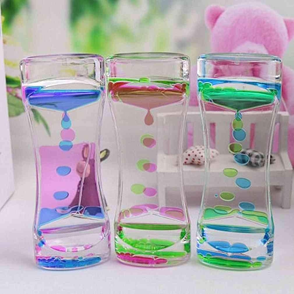Acrylic Drip Oil Hourglass Liquid Motion Bubble Timer Toy