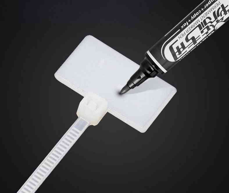 Nylon Cable Ties Tag Labels - Plastic Loop Markers