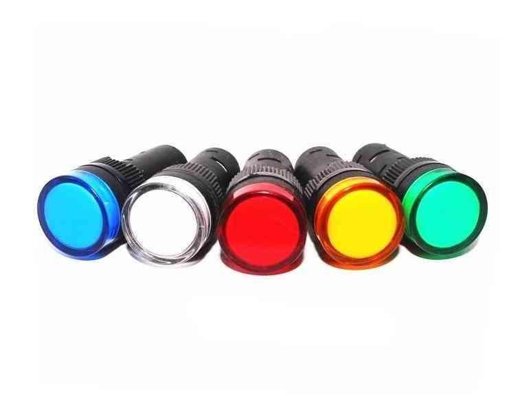 Led Power Indicator Signal Light Pilot Lamp - Ac/dc 12v/24v/110v, Ac220v Ad16-16c