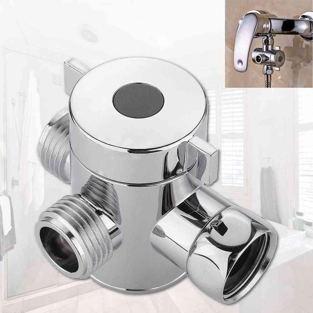 Three Way T-adapter Valve, For Toilet Bidet Shower Head Diverter