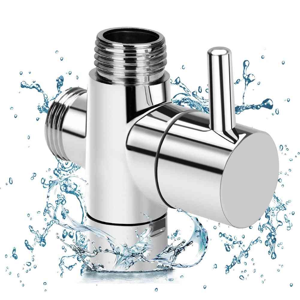Brass Diverter Valve 3-way Water Separator Shower T Adapter