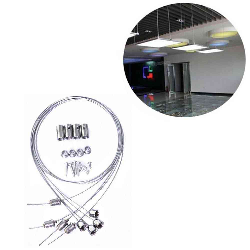 Suspension Mounting Wire, And Screws Kit For Led Panel Lights