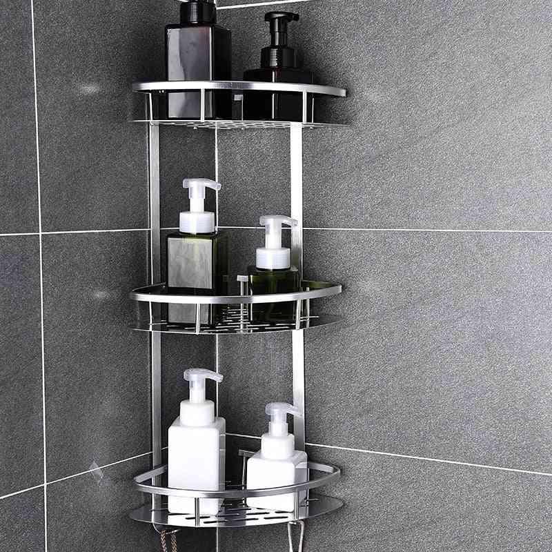 Aluminum Corner Shower Shelf-no Punching And Drain Hole Design
