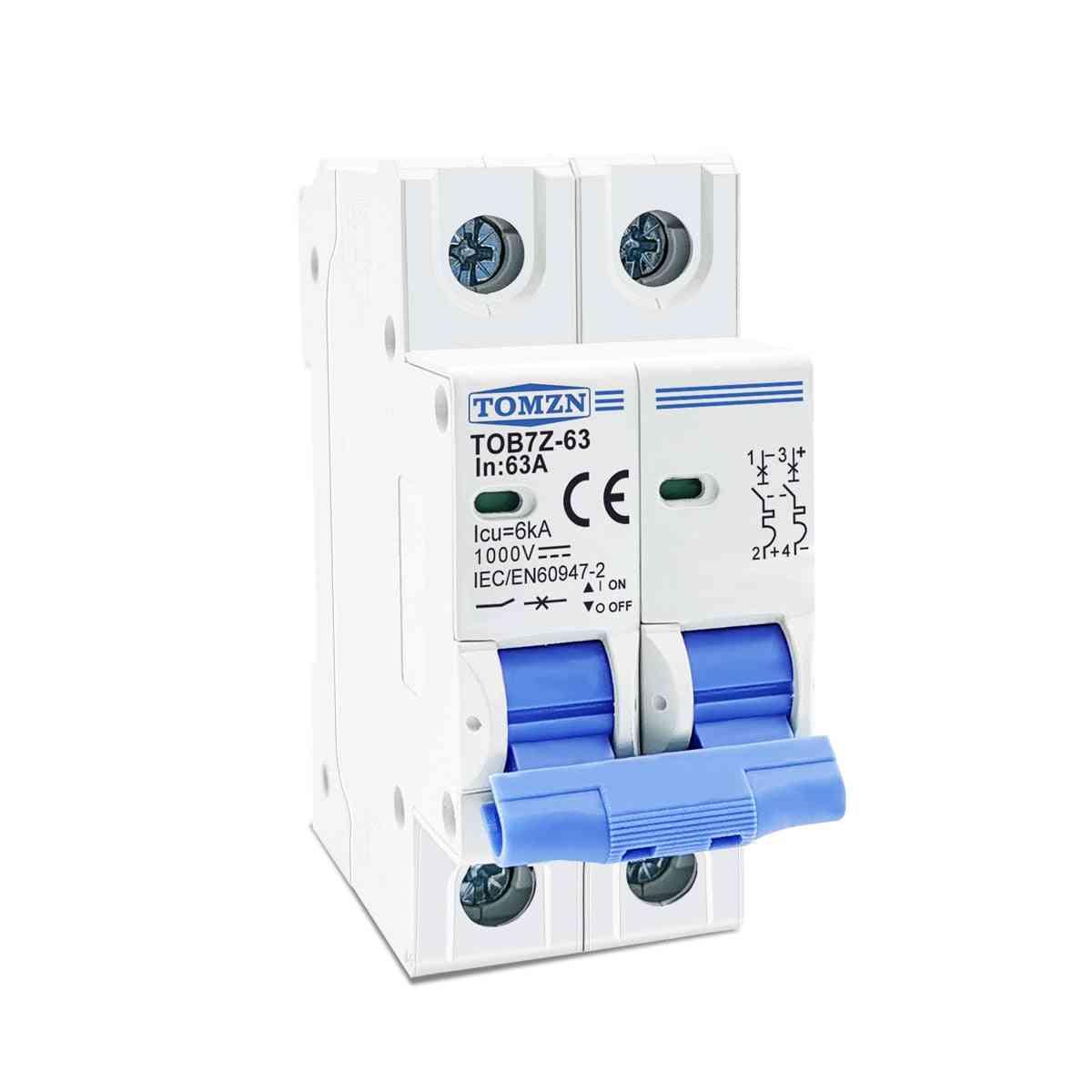 2p Dc 1000v Solar Mini Circuit Breaker For Pv System