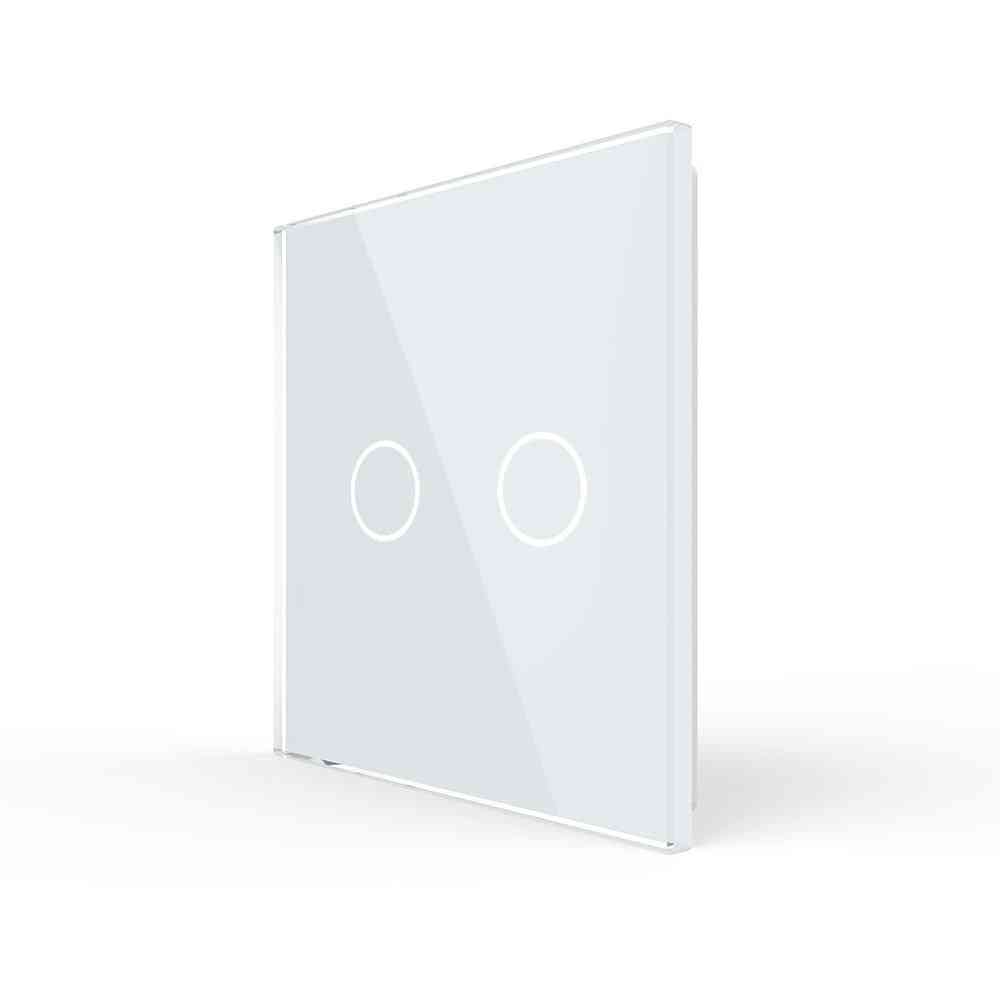 Eu Standard, Single Glass Panel For 2 Gang- Wall Touch Switch