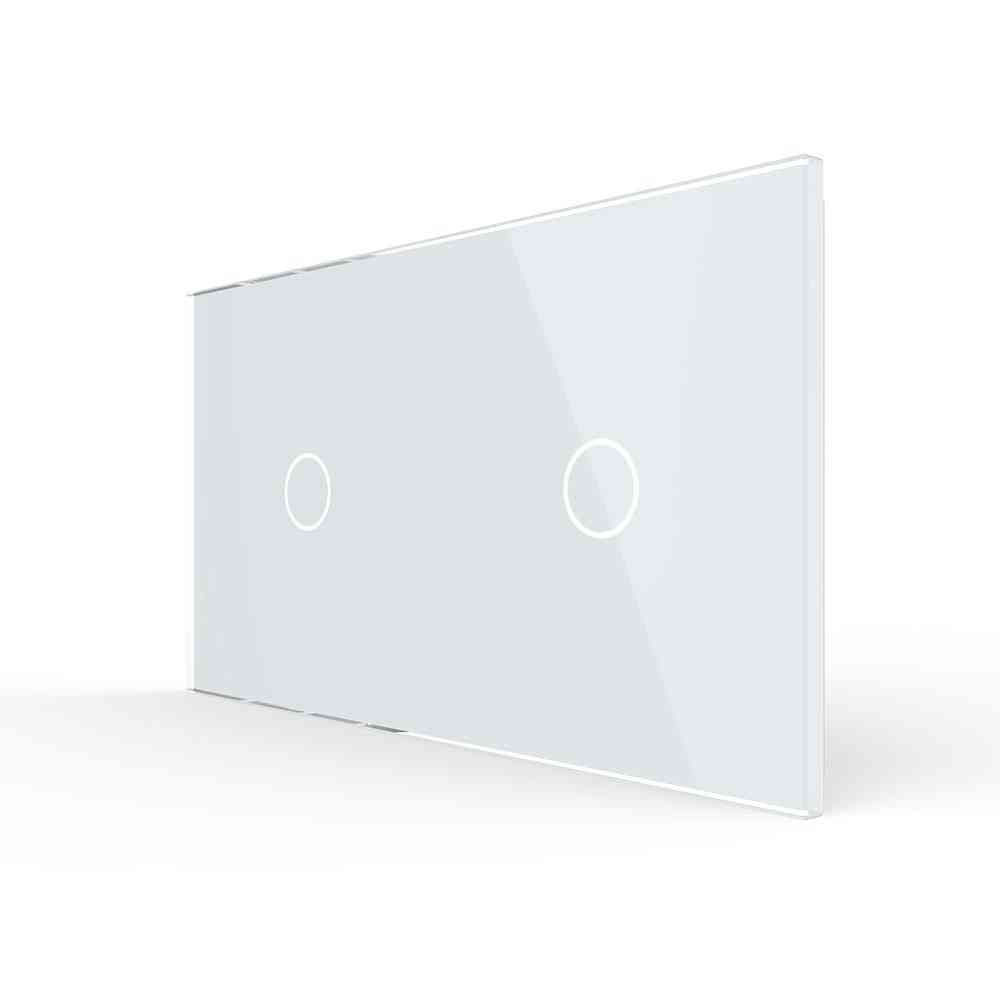 Eu Standard, Double Glass Panel For Wall Mounted Touch Switch