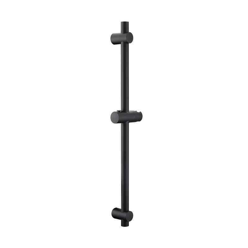 Matte Black Finish, Stainless Steel & Abs Plastic- Sliding Shower Bar