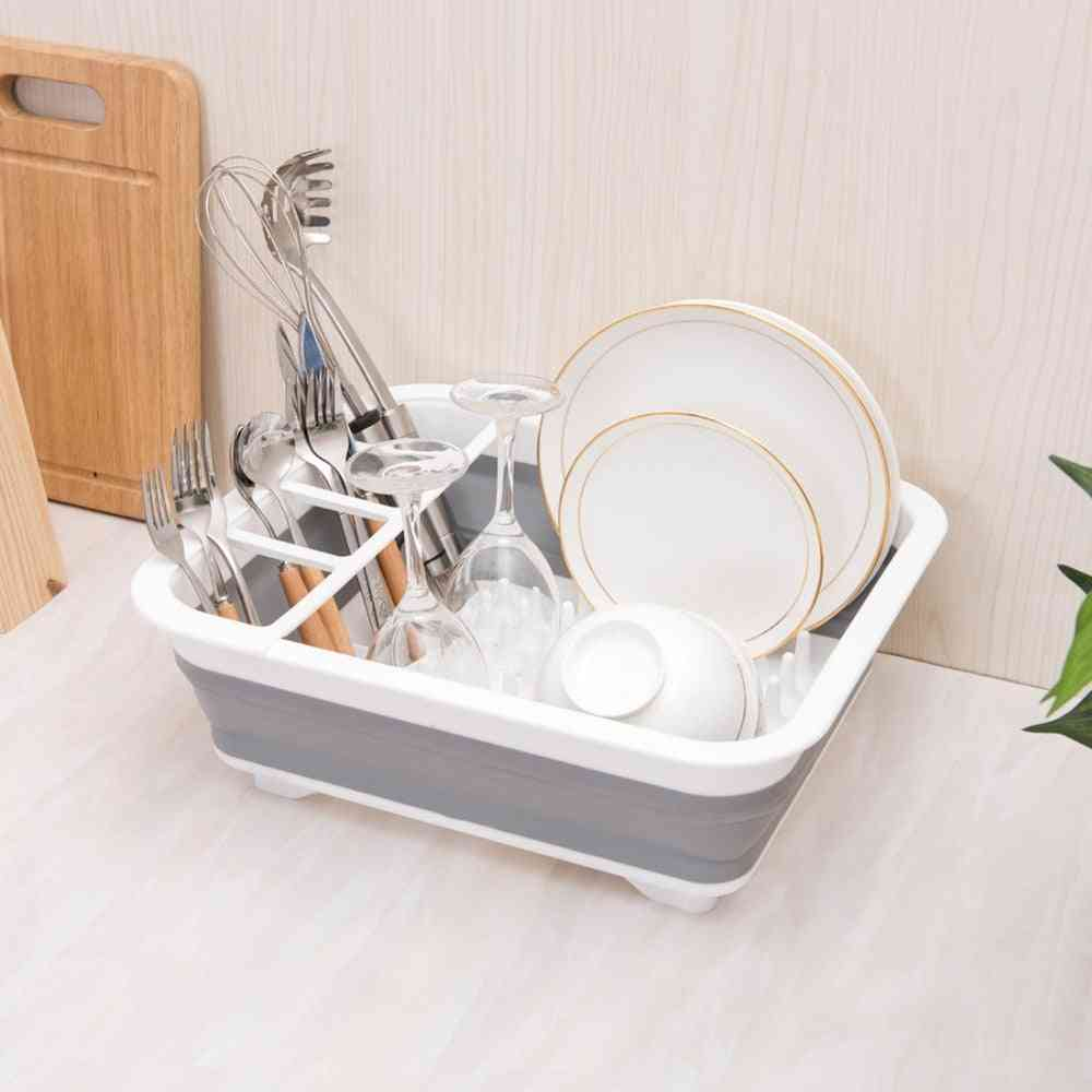 Kitchen Foldable Dish Rack Storage Holder