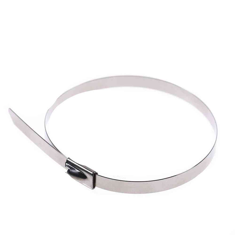 Stainless Steel Metal Cable Tie Zip Wrap - Exhaust Heat Straps Induction Pipe