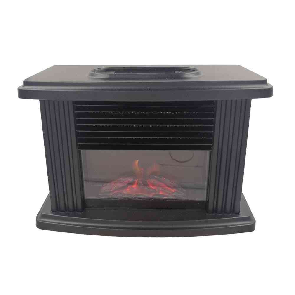 Electric Fireplace Heater With Remote Control - Tabletop Warmer Simulation