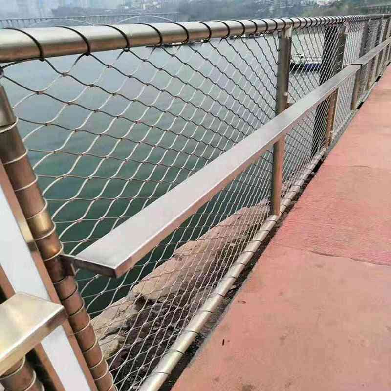 Eco-friendly, Stainless Steel Cable Mesh Railing Guard For Bridge Stairsway