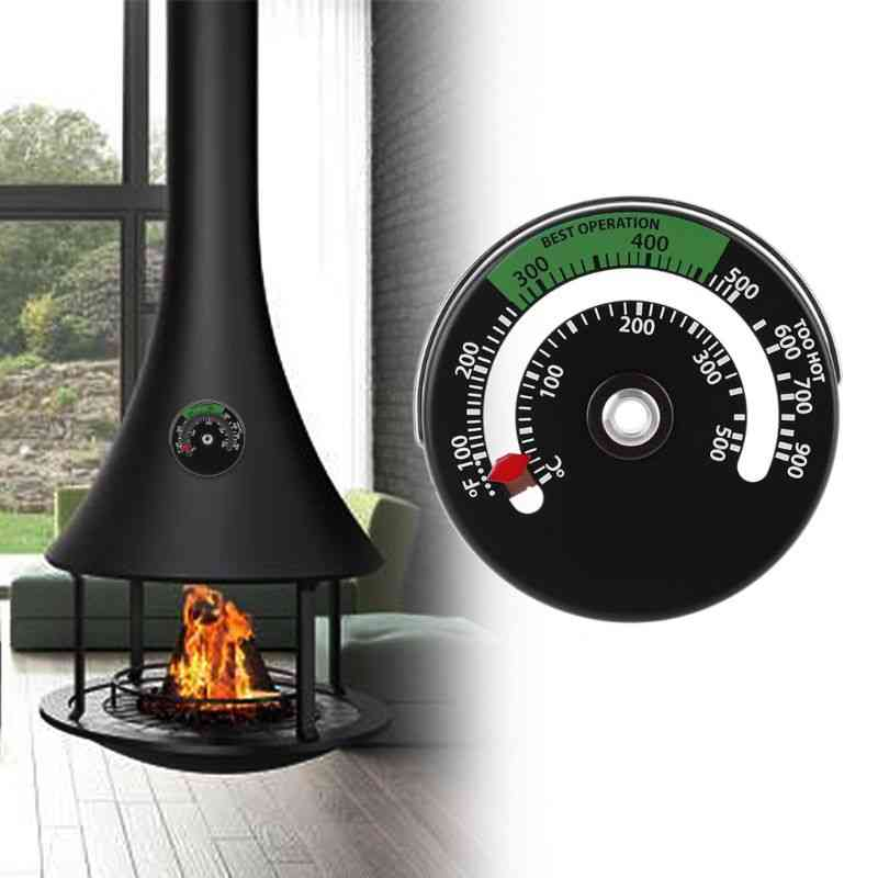 Magnetic Fireplace Stove Thermometer -temperature Monitor