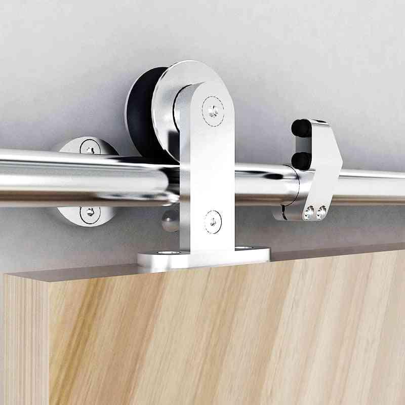 5ft-8ft Stainless Steel Sliding Barn Door -hardware Safety Pin Top Mount Roller