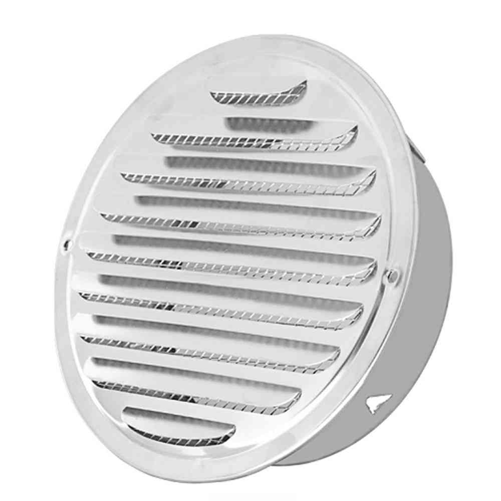 Stainless Steel Round Ducting Ventilation Exterior -wall Air Vent Grille