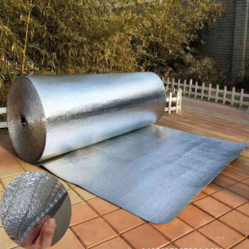 Aluminum Foil Bubble Heat Insulation Film Double Face Material For Roof And Sun Room Waterproof - 3m X 1m