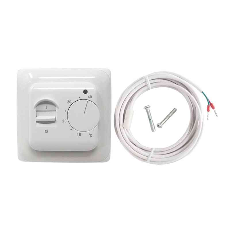 Mechanical Floor Heating Thermostat - 16a Ac 230v Electronic Temperature Controller Retardant Pcv Room