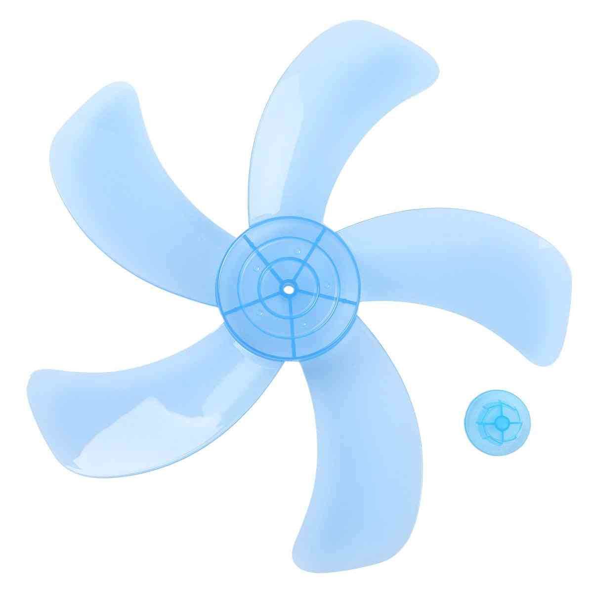 Household Fan Blade Three/five Leave Plastic Impellor With Nut Cover
