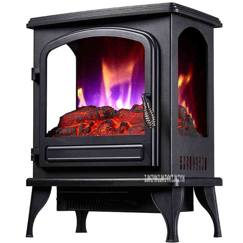 Independent Vertical Electric Fireplace, Household Visible Flame - Warm Air Blower