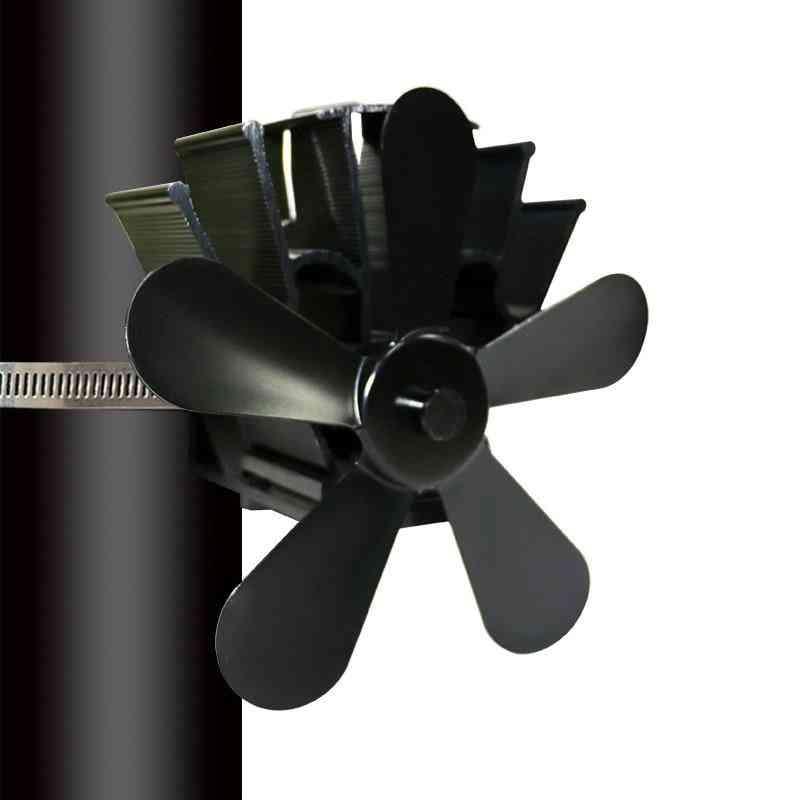 Multi Blade Fireplace Heat Powered Stove Fan - Log Wood Burner