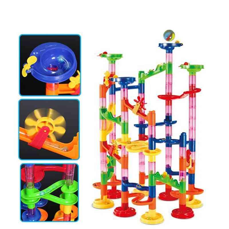Bead Model Building Blocks, Construction Marble Run Ball, Roller Coaster Toy
