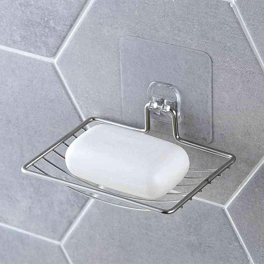 Stainless Steel Soap Holder Dish With Suction Cups