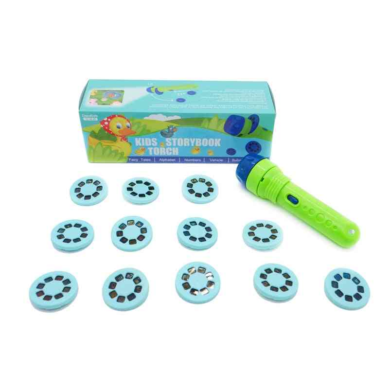 Kids Flashlight, Story Book Projector Torch With 12 Sliders
