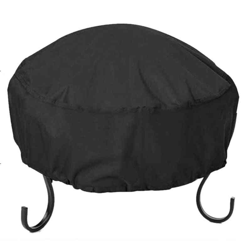 Waterproof, 210d Oxford Cloth, Fire Pit Cover And Storage Bag