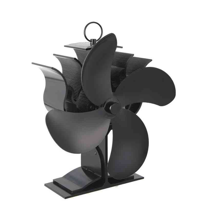 Large Airflow 4-blade Powered - Heat Distribution Stove Fans