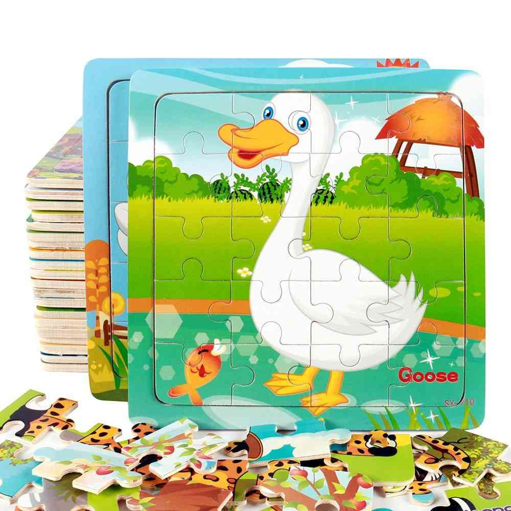 Slice Wooden Puzzles - Educational Learning Toy For
